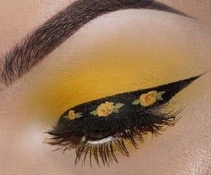 yellow, makeup, and aesthetic image