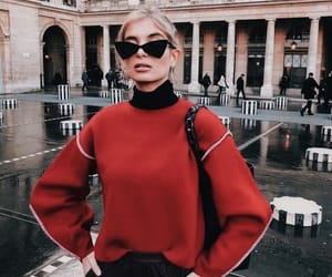 blonde, city, and fashion image