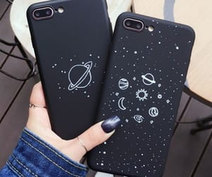 case, black, and iphone image