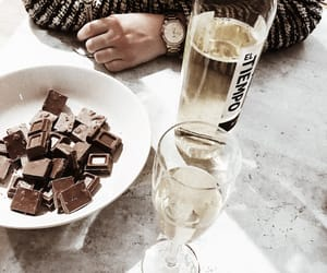 chocolate, marble, and wine image