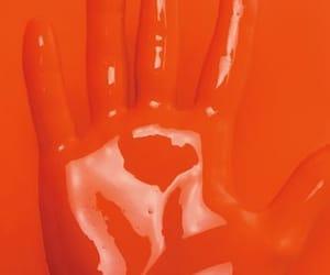 aesthetic, hand, and orange image