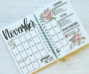 bullet journal, planner, and month image