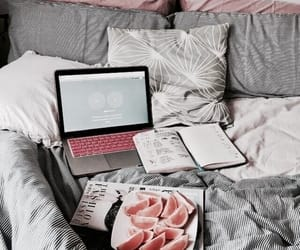 bed, school, and fruit image