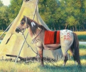 friend, horse, and indians image