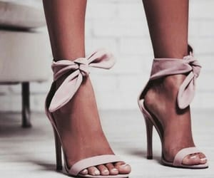 high heels, rose, and shoes image