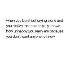 alone, anxiety, and crying image