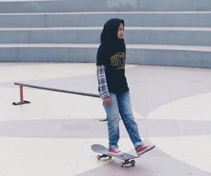 aesthetic, hijab, and girl image