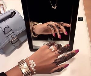accessories, bag, and henna image