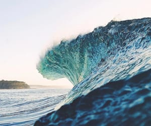 sea, wave, and ocean image