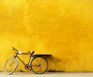 yellow, bike, and aesthetic image