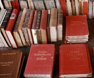 book, red, and theme image