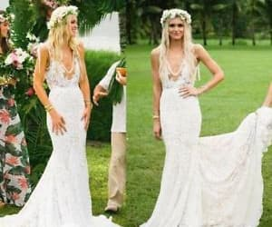 lace wedding dress and country wedding dress image