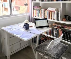 desk, study, and books image