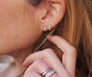 chic, fashion, and diamonds earring image