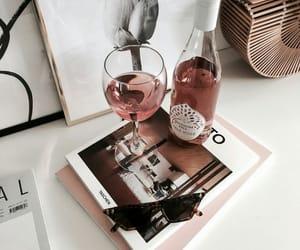 fashion, wine, and sunglasses image