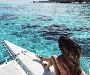 summer, sea, and fashion image