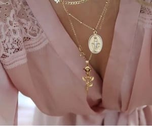 pink, girl, and jewelry image
