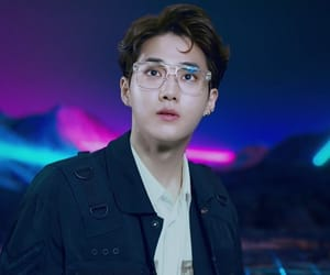 exo, power, and kim junmyeon image