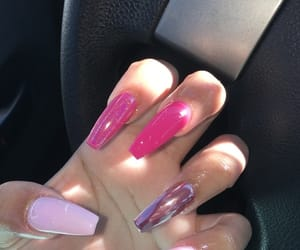 nails, pink, and pink nails image