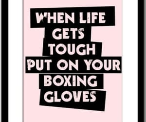 quotes, boxing, and gloves image