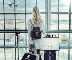 airport, blonde, and elegant image