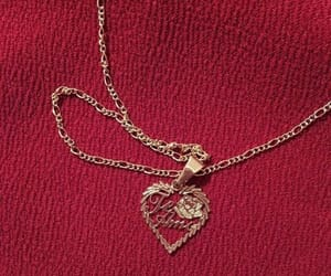gold, heart, and necklace image