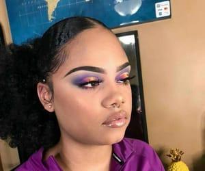 hair, makeup, and nike image