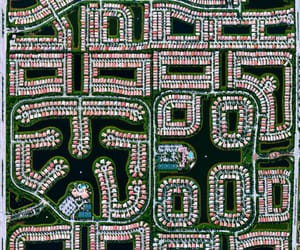 abstract, aerial photography, and suburbs image