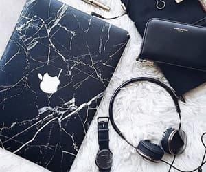 apple, black, and headphones image