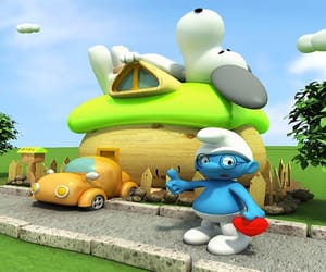 blue, the smurfs, and movie image