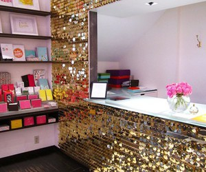 room, gold, and glitter image