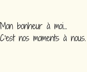 amour, bonheur, and quote image