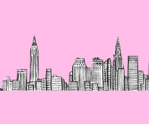 newyork, pink, and wallpaper image