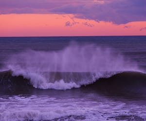 ocean, waves, and sky image