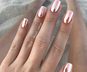 nails, pink, and beach image