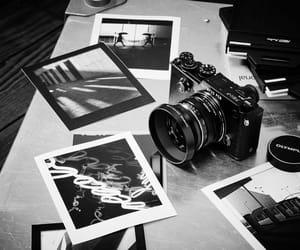 black and white, camera, and hobbie image