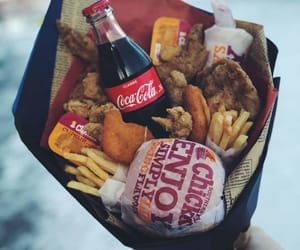 food, bouquet, and Chicken image