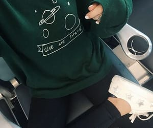 green, style, and outfit image