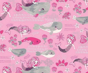 art, pink, and whale image