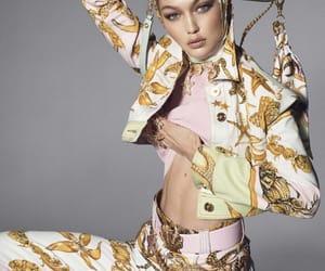 model, gigi hadid, and Versace image
