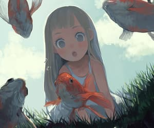 fish, anime, and art image