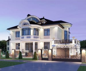 architecture, dream house, and exterior image