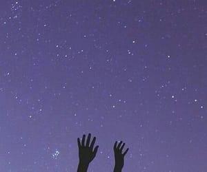 purple, stars, and night image