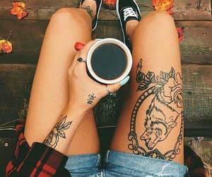 tattoo, coffee, and fashion image
