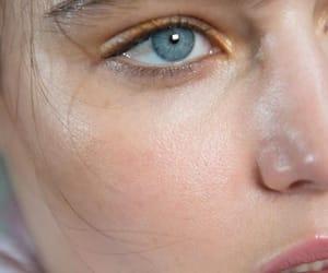 girl, skin, and eye image