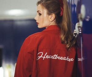 red, girl, and heartbreaker image
