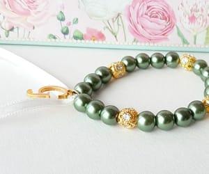 etsy, ribbon bracelet, and gold bracelet image