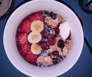banana, blackberries, and breakfast image