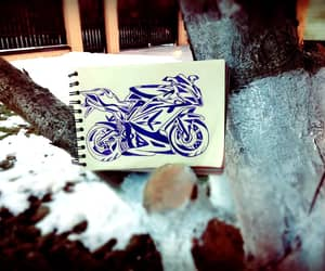 moto, motorbike, and scetchbook image