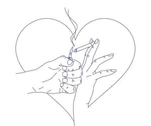 art, hands, and love image